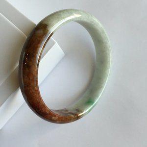 GIA Certified Natural Jadeite Jade Bangle Bracelet